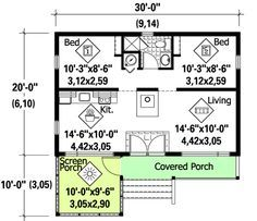 20 X 30 Floor Plans Google Search Cottage Plan Tiny House Floor Plans House Plans