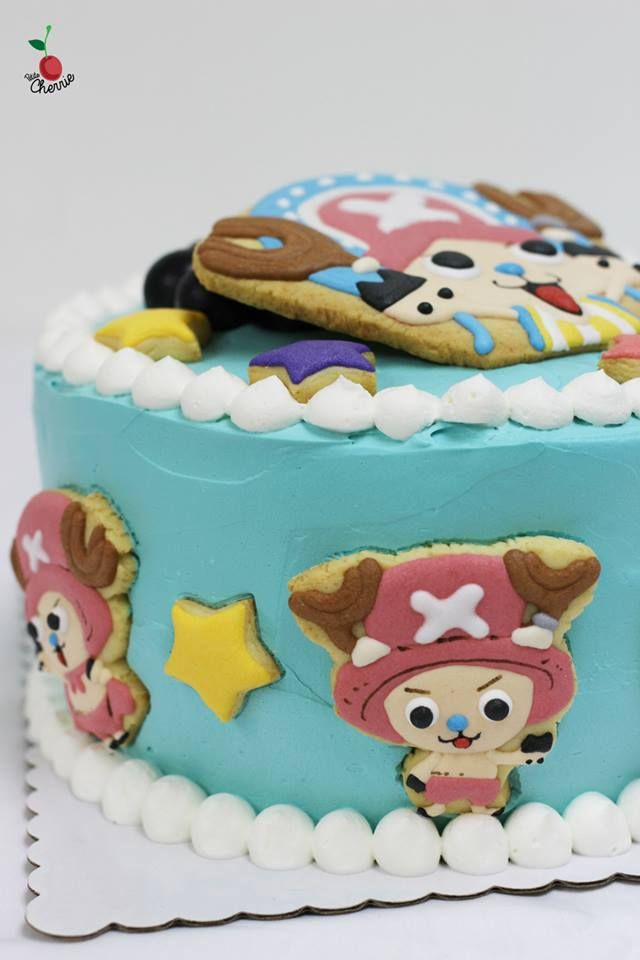 Cute Chopper From One Piece Cake One Piece Chopper Cookies Petite