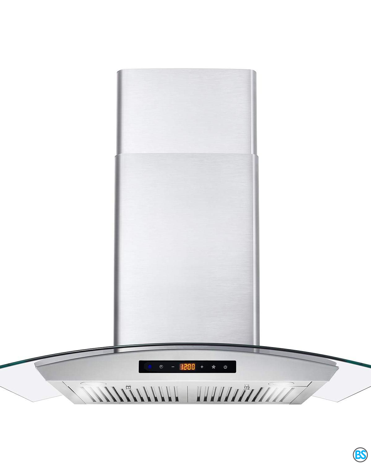 Range Hoods Cosmo Cos 668as750 Wall Mount Range Hood 380 Cfm Ductless Convertible Duct Glass Chimney Over Stove Vent With Light 3 Speed Exhaust Fan Timer In 2020 Wall Mount