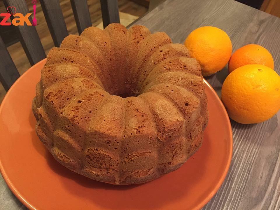 وصفة كيكة البرتقال الناجحة و اللذيذة زاكي Dessert Recipes Recipes Food