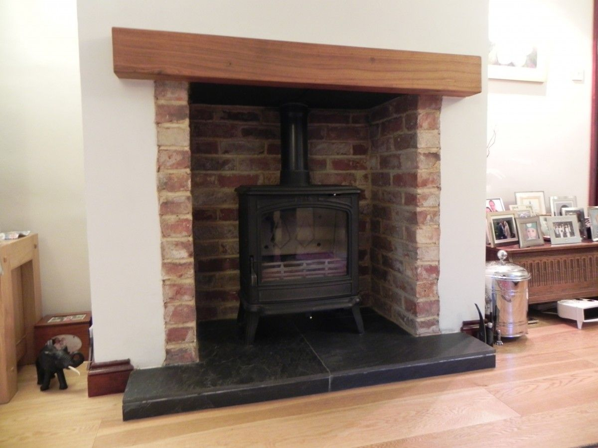 Pin By Rob Hall On Fireplaces In 2019 Brick Fireplace Wood Stove