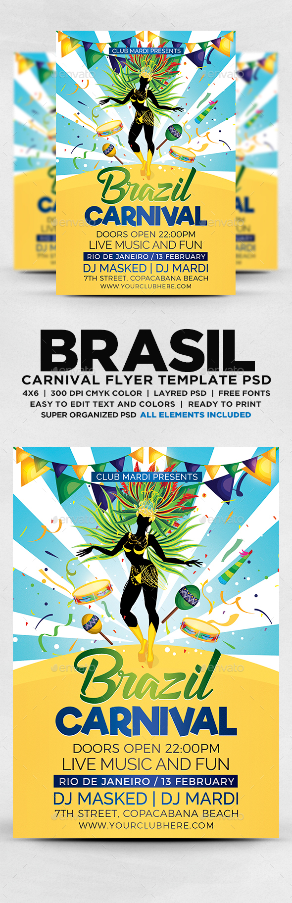 Brazilian Carnival Flyer Flyers Print Templates Flyer