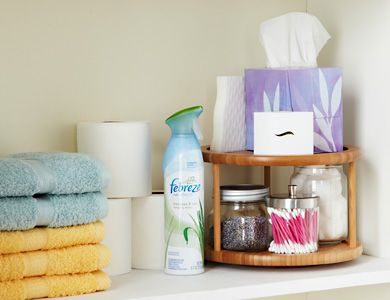 LAZY SUSANS  This old-fashioned organizer isn't just for the table. Give it a whirl in the fridge, closet, bathroom—any place you could use extra storage space. Get 7 uses for lazy Susans>>