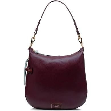 2e8b6a909d8 Radley London Pudding Lane Large Zip-Top Hobo Bag Burgundy and Rose ...