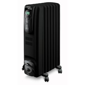 De Longhi Oil Filled Tower Electric Space Heater With Thermostat And Energy Saving Setting Radiant Heaters Best Space Heater Portable Space Heater