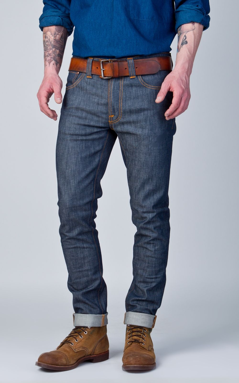 New Products Nudie Jeans Lean Dean Tight Fit Jeans Mens Dry Iron Online Shopping