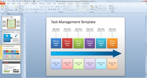 Task Process Powerpoint Task Management Ppt Template Work