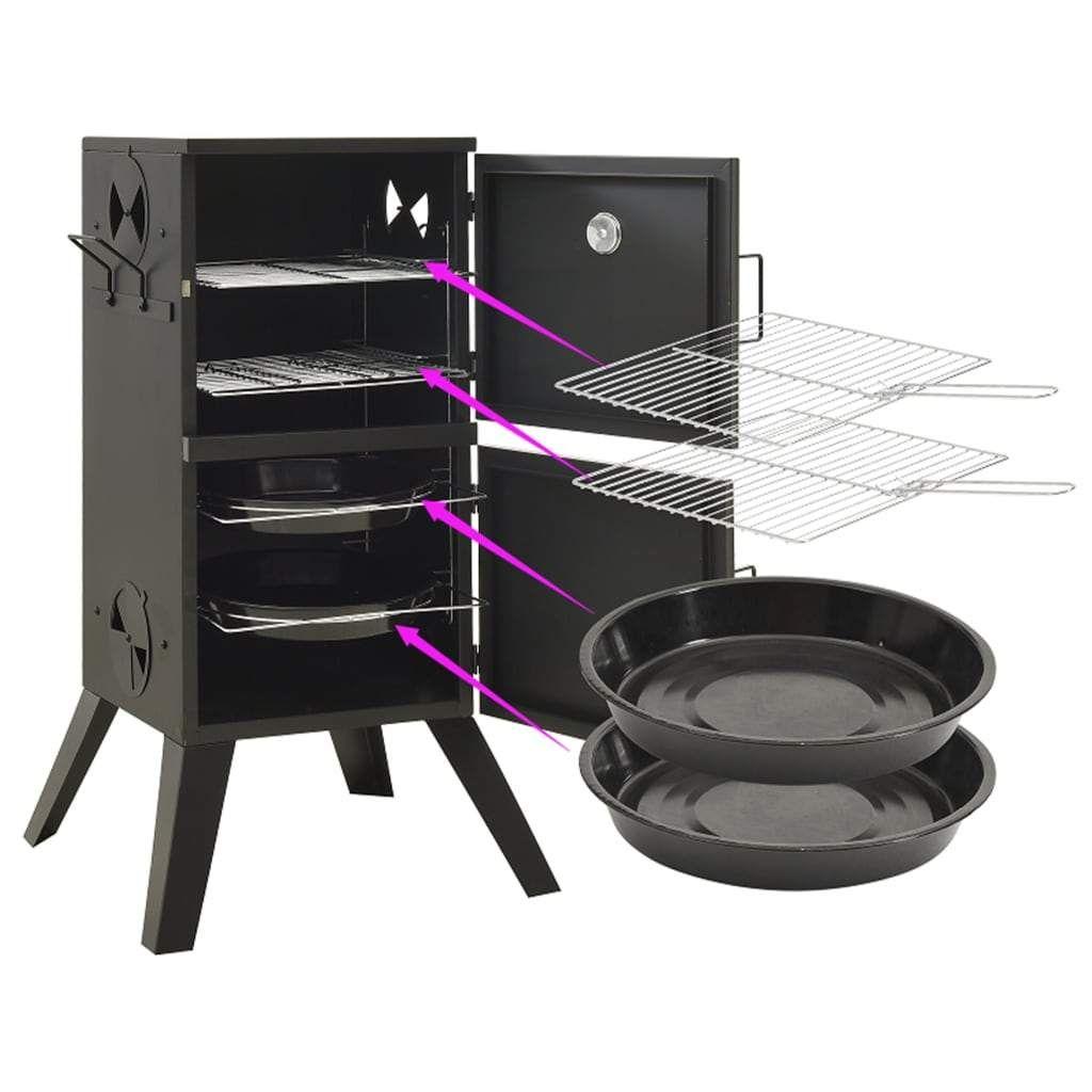 ZNTS Smoker Oven 55×47.5×100.5 cm Steel 313359