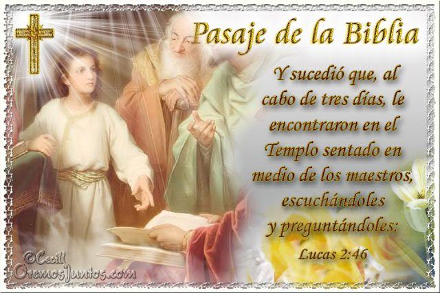 Vidas Santas: Santo Evangelio según san Lucas 2:46