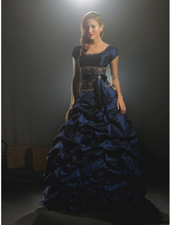 ... Occasion Dresses > Ball Gowns > Blue Ball Gown Prom Dresses P-0070