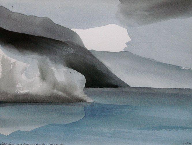 Toni Onley - White Cloud, Harrison Lake, BC,  1982