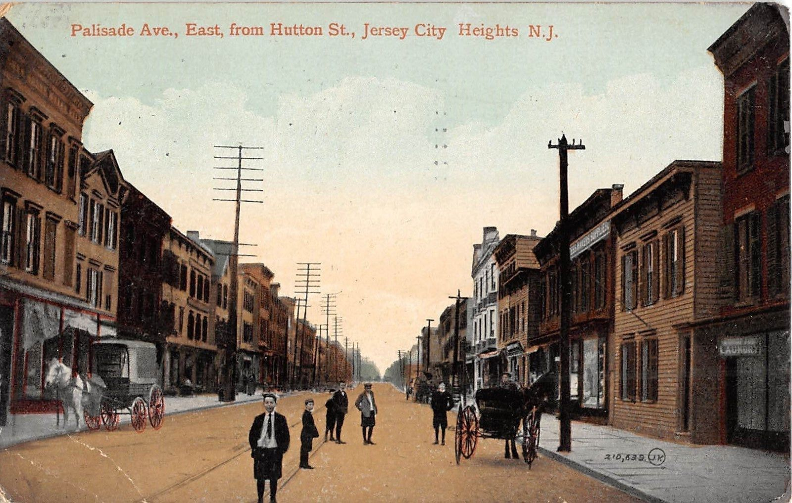 1913 Stores Palisade Ave East From Hutton St Jersey City Nj Post Card Jersey City City Heights Palisades