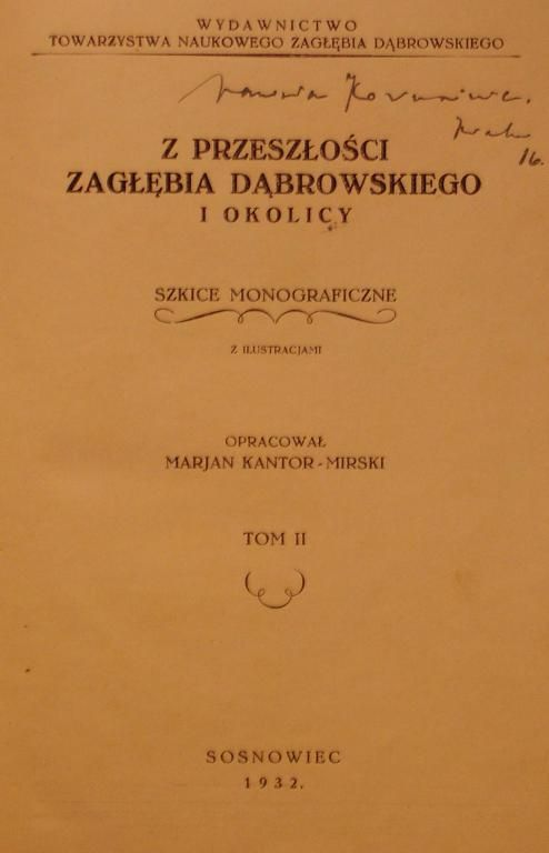 Kantor Mirski Z Przeszlosci Zaglebia Dabrowskiego 3008036161 Oficjalne Archiwum Allegro Allegro