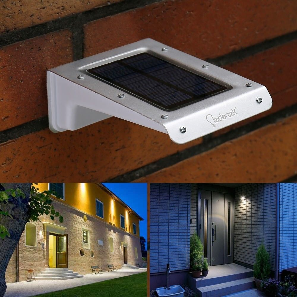 2nd Generation 20 LEDs Outdoor Solar Powered Wireless Motion Sensor ...