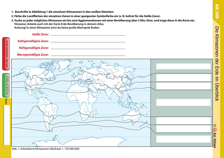 Klimamaterial Die Klimazonen der Erde im Überblick ...