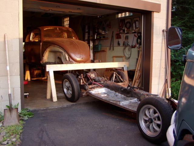 Awesome Sawhorse Frame Storage Idea Antique Cars Riding Vw Bug