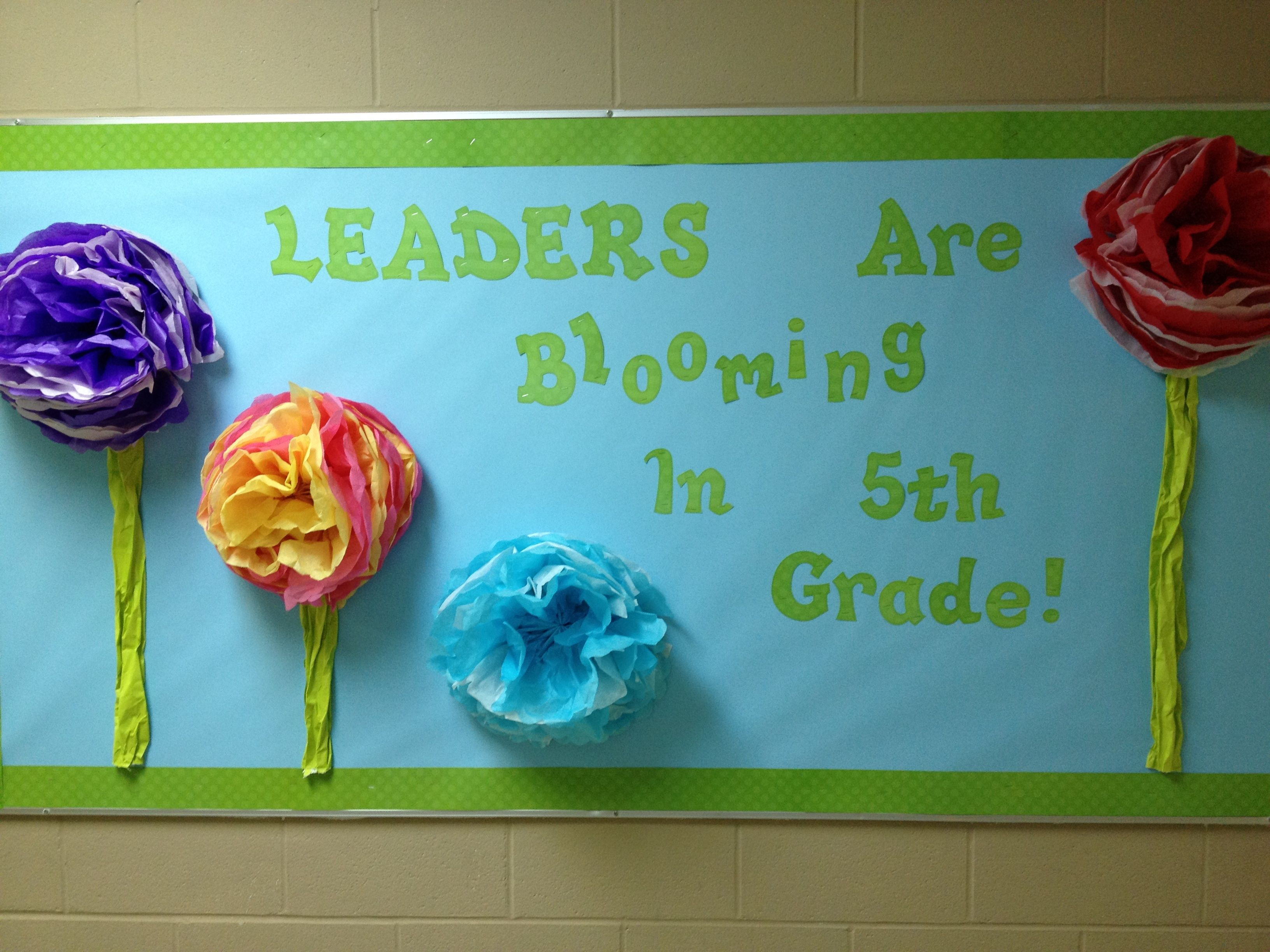 Leader In Me Bulletin Board Idea Make Tissue Paper Pom Poms For