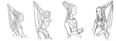Znalezione obrazy dla zapytania jak uszyć średniowieczne nakrycie głowy damskie