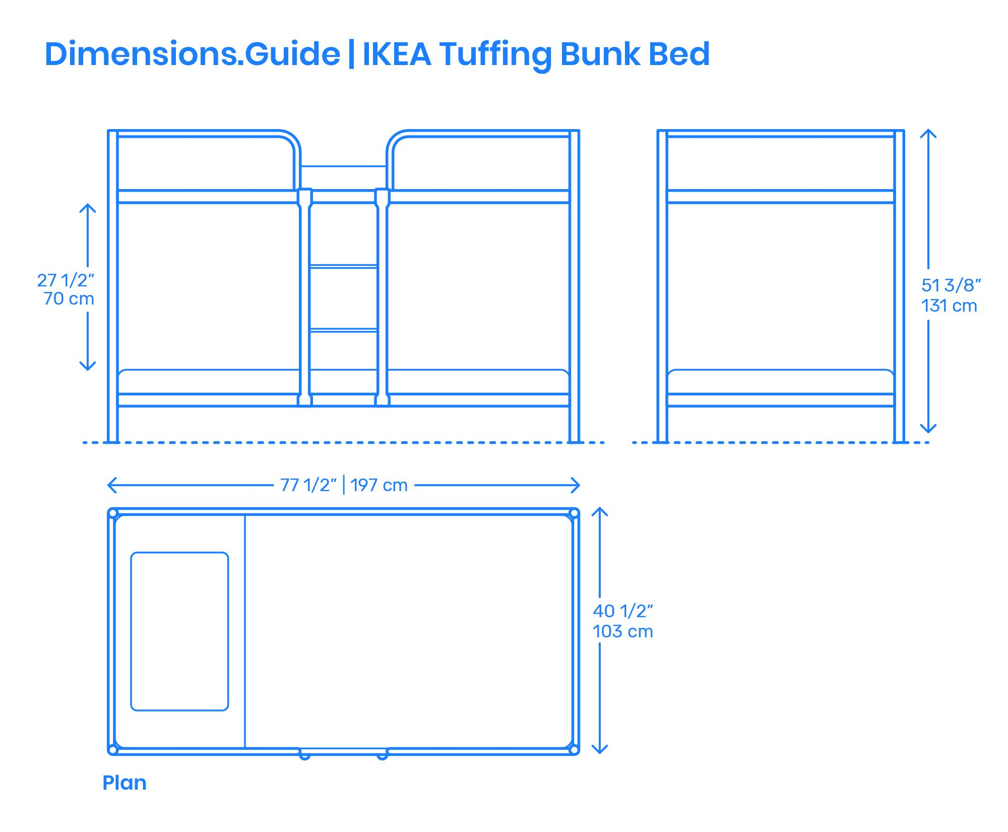 Ikea Tuffing Bunk Bed Bed Dimensions Bunk Beds Bunker Bed