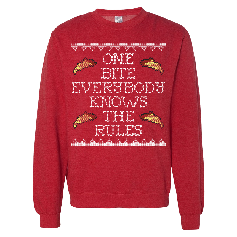 One Bite Ugly Sweater Gifts First Bite Red Sweaters Sweaters