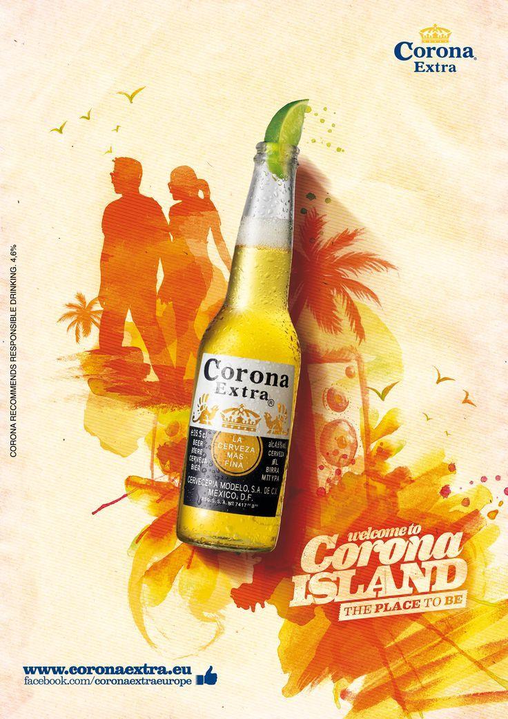 Print Advertising Welcome To Corona Island Www Coronaextra E Graphic Design Advertising Print Advertising Ads Creative
