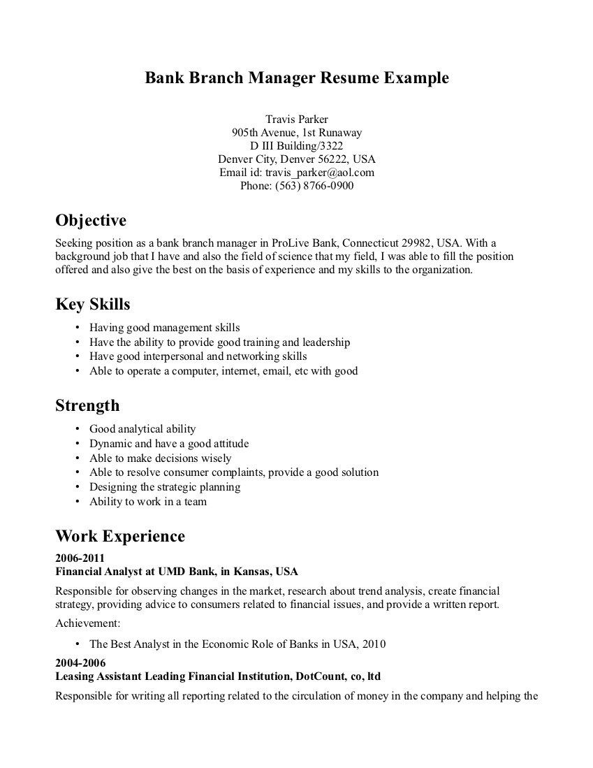 Banking Manager Sample Resume Interesting Resume Help Denver Cover Letter Nursing Resumes And Letters Customer .