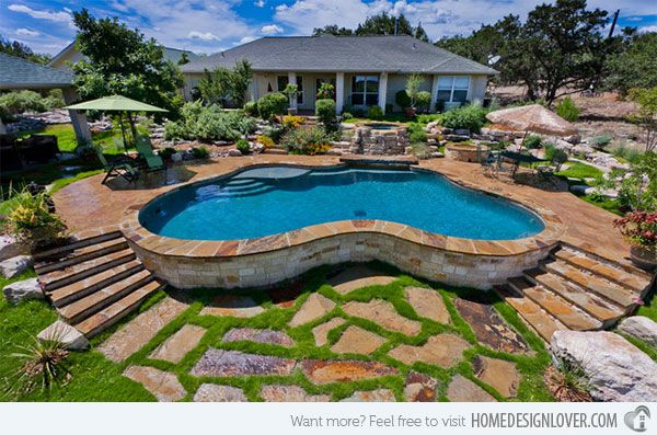 15 swimming pool decks with stone and pavers swimming pool decks