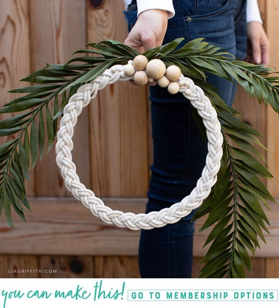 Photo of How to Make a Braided Rope Wreath for Your Home – Lia Griffith