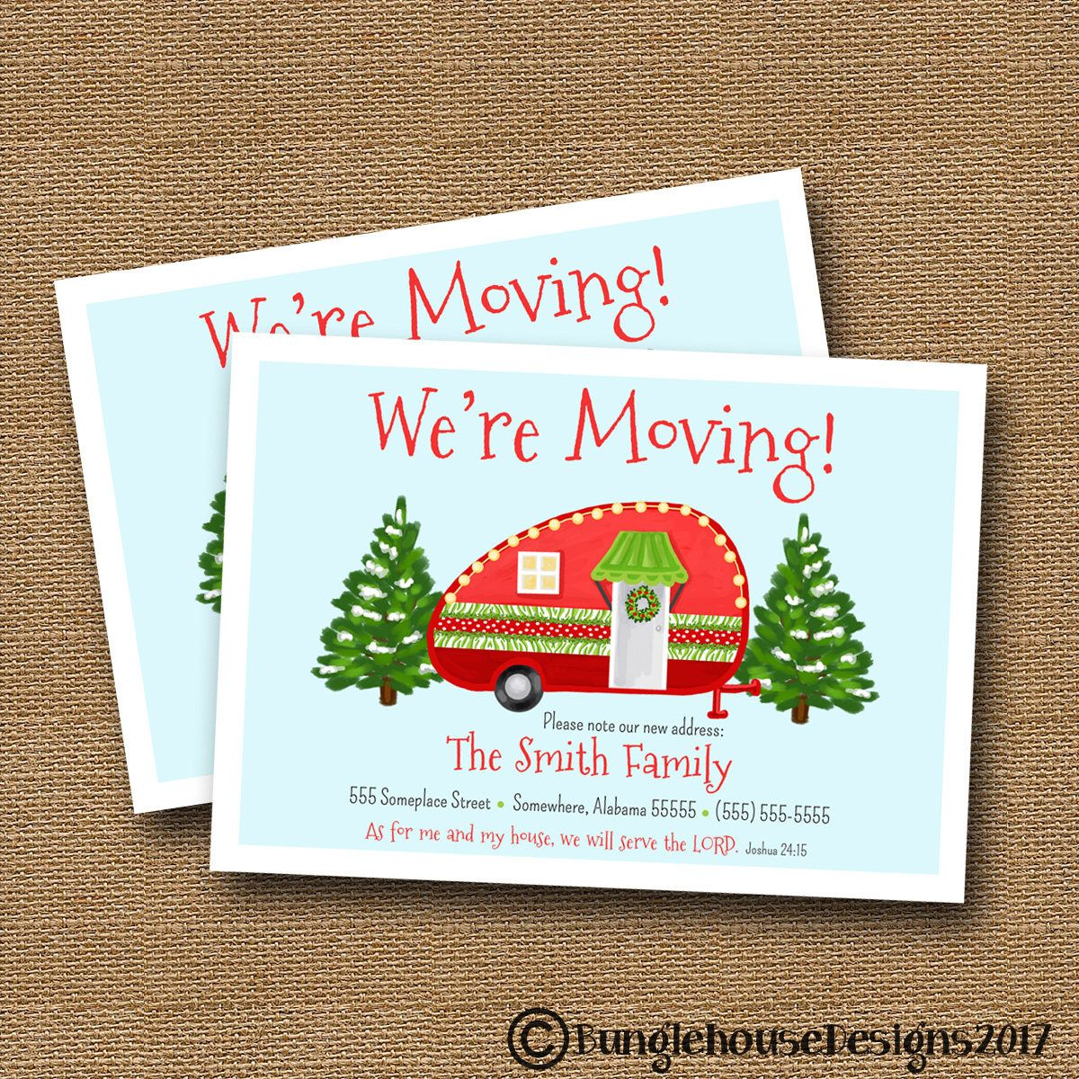 Christmas moving announcement new home for christmas christmas christmas moving announcement new home for christmas christmas camper change of address kristyandbryce Gallery