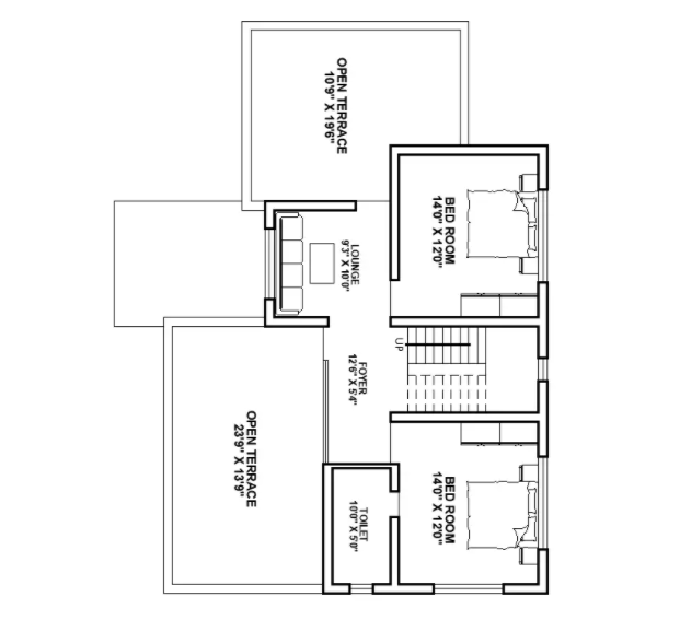 Residence House First Floor Plan drawing Download DWG File