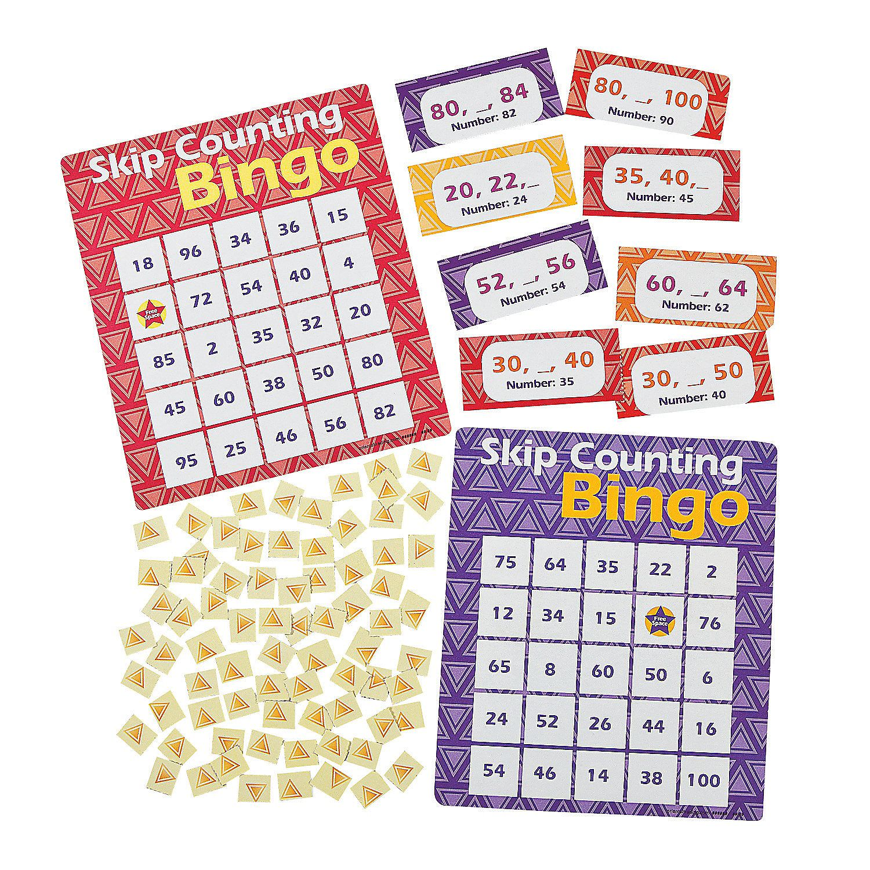 Skip Counting 2 5 10 Bingo Game