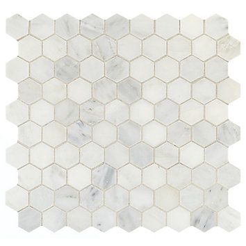 Addison Place Natural Stone Mosaic Are The Ultimate In Eye Catching Diverse And Unique Mosa With Images Hexagon Stone Hexagonal Mosaic Kitchen Countertops Granite Colors