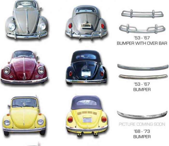 Volkswagen Beetle Bumpers Vw Beetle Classic Vw Super Beetle Vw Beetles