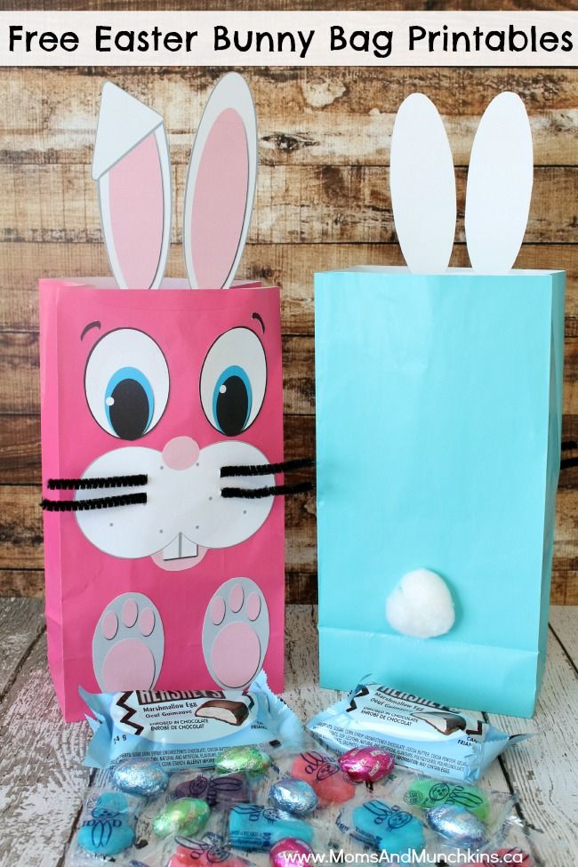 76aa33ed81bc Easter Bunny Bag Printables (Free | Easter Crafts and Decorations ...