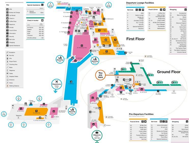 Birmingham airport map Maps Pinterest City