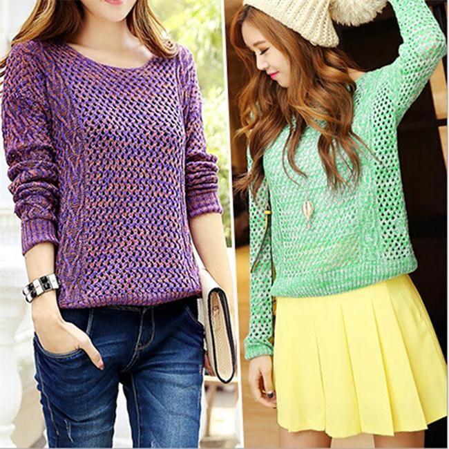 2014 New Cute Fashion Casual Loose Sweaters Women Fall Long Sleeve ...