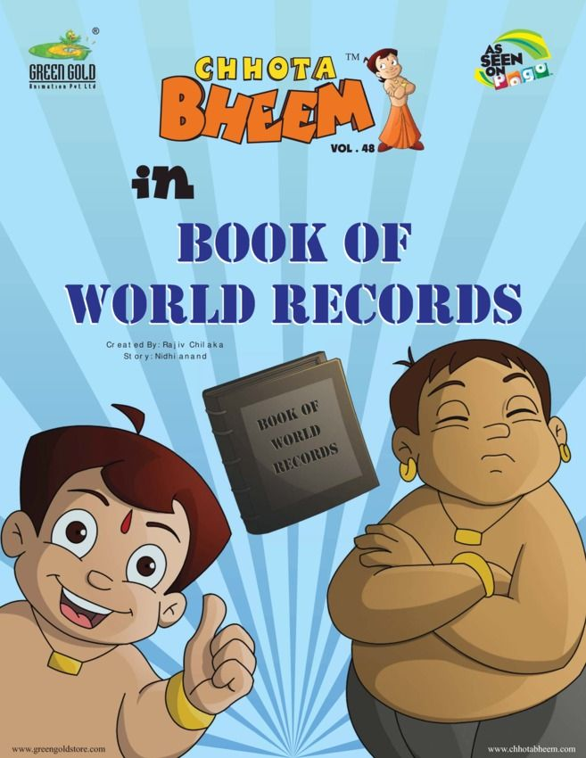 Chhota Bheem Vol48 Book of World Records edition - Read the digital - best of chhota bheem coloring pages games