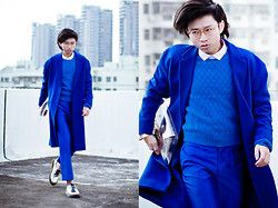 Judas Lee - Céline Celine Inspired Royal Blue Coat, Acne Studios ...