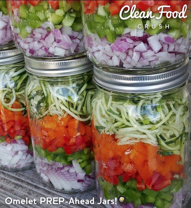 Omelet PREP-Ahead Jars! CleanFoodCrush http://cleanfoodcrush.com/omelet-prep-ahead-jars/ 