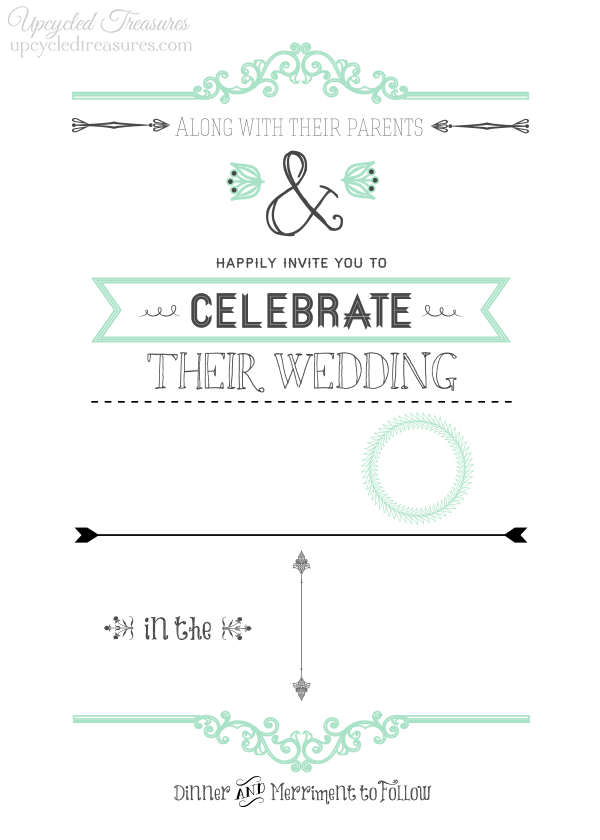 Rustic Wedding Invitations  Diy Wedding Invitations Templates
