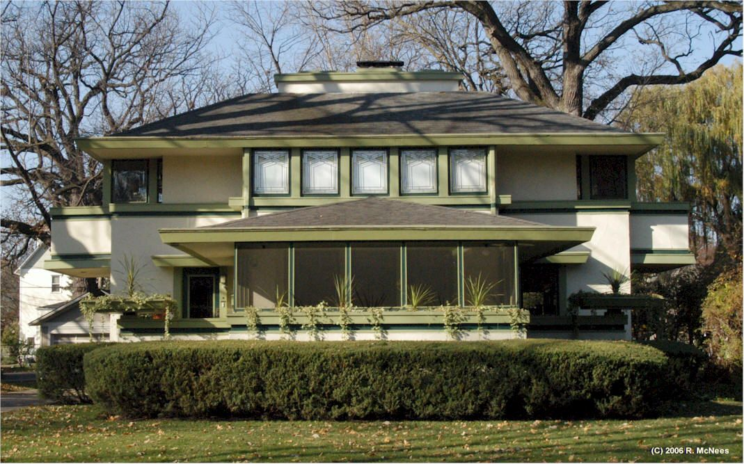 Frank Lloyd Wright Prairie School Architecture In River Forest