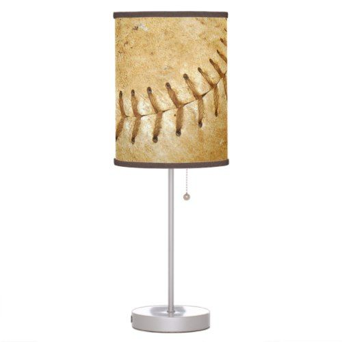 Vintage Off White Baseball Desk Lamp Zazzle Com Baseball Inspiration Desk Lamp Baseball Vintage