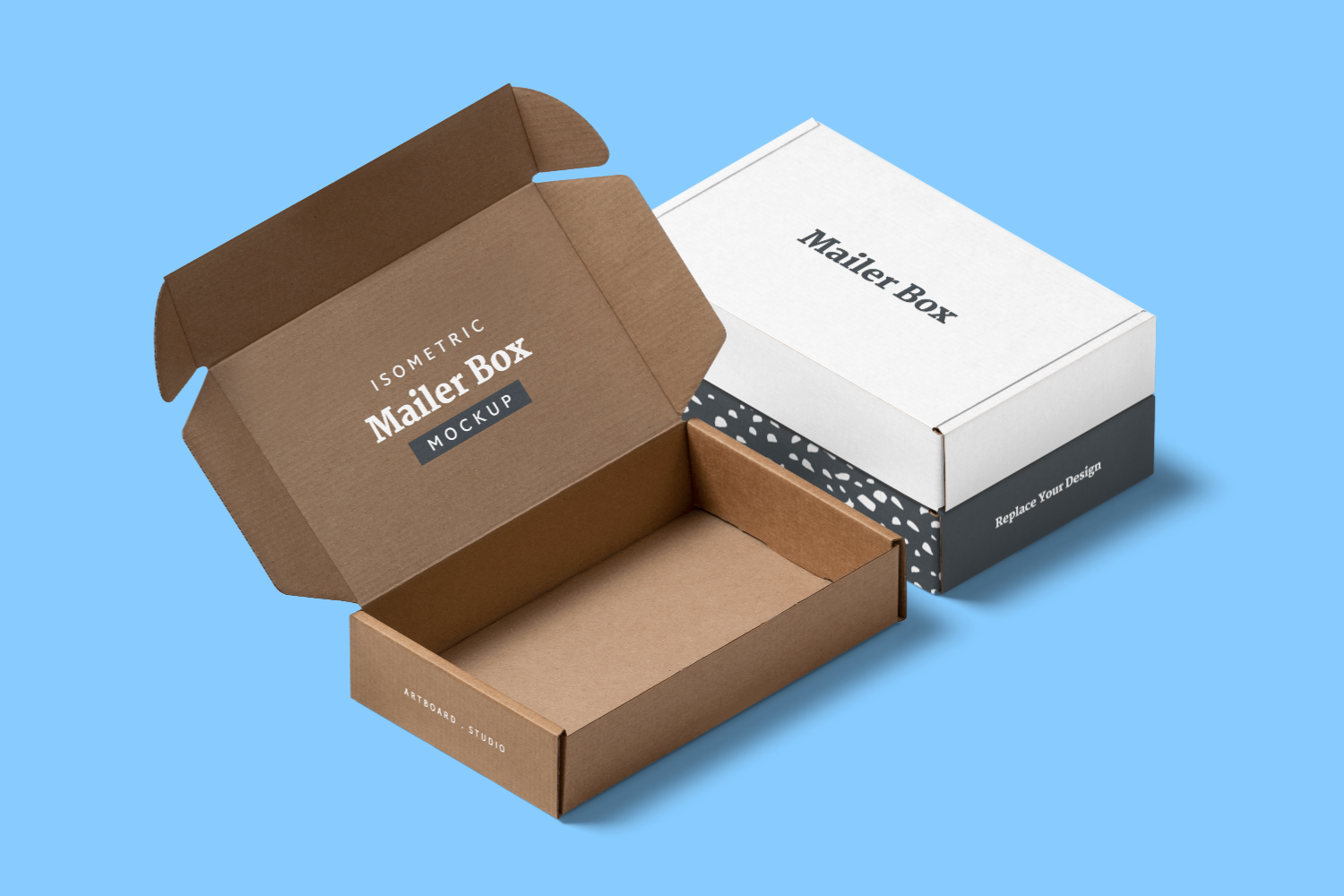 Download Check Out This Free Awesome Mockup Template From Artboard Studio Free Mockup Templates Mailer Box Branding Design