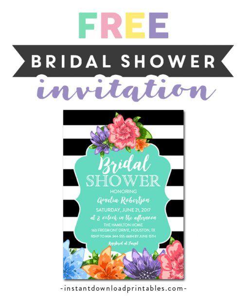 Free Printable Editable Pdf Bridal Shower Invitation Diy Black