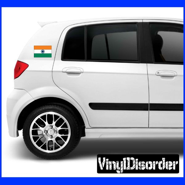 India flag sticker car or wall vinyl decal