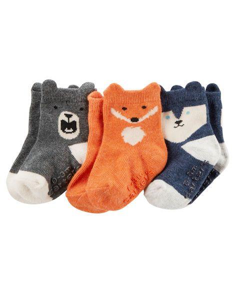 huge discount d8658 5b506 Baby Boy 3-Pack Animal Socks   Carters.com