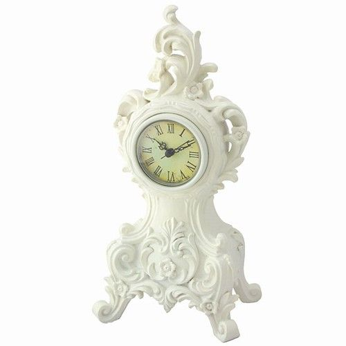 White Baroque Mantel Clock White Clocks Mantel Clock Clock