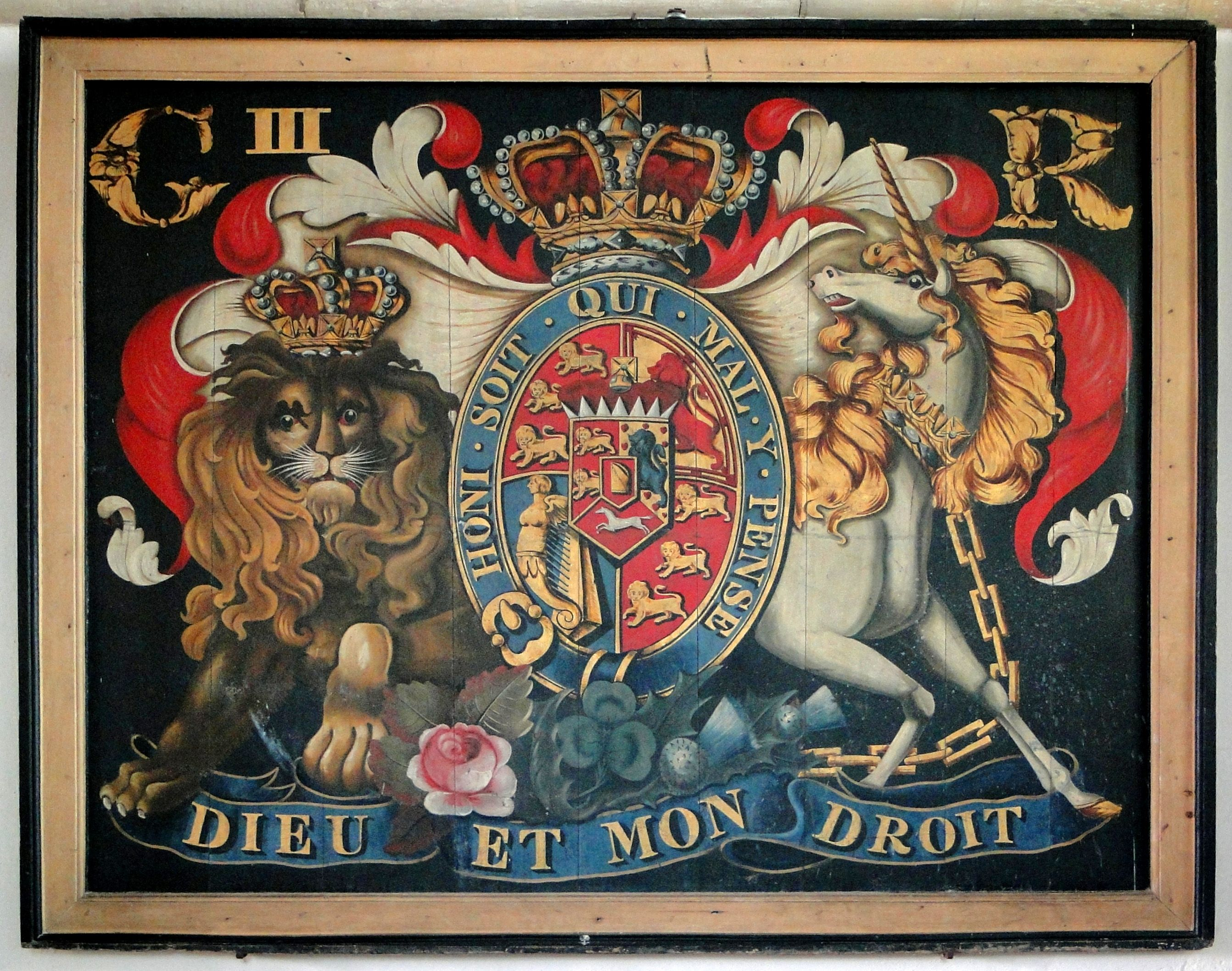 Royal Coat Of Arms Of George Iii In St Giles Church At Bredon