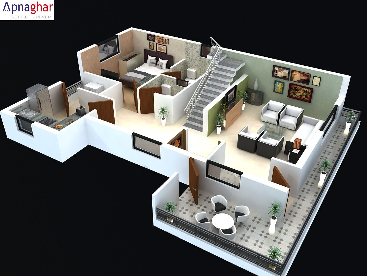 3d Cut Model Of A Floor Plan Find All Architectural