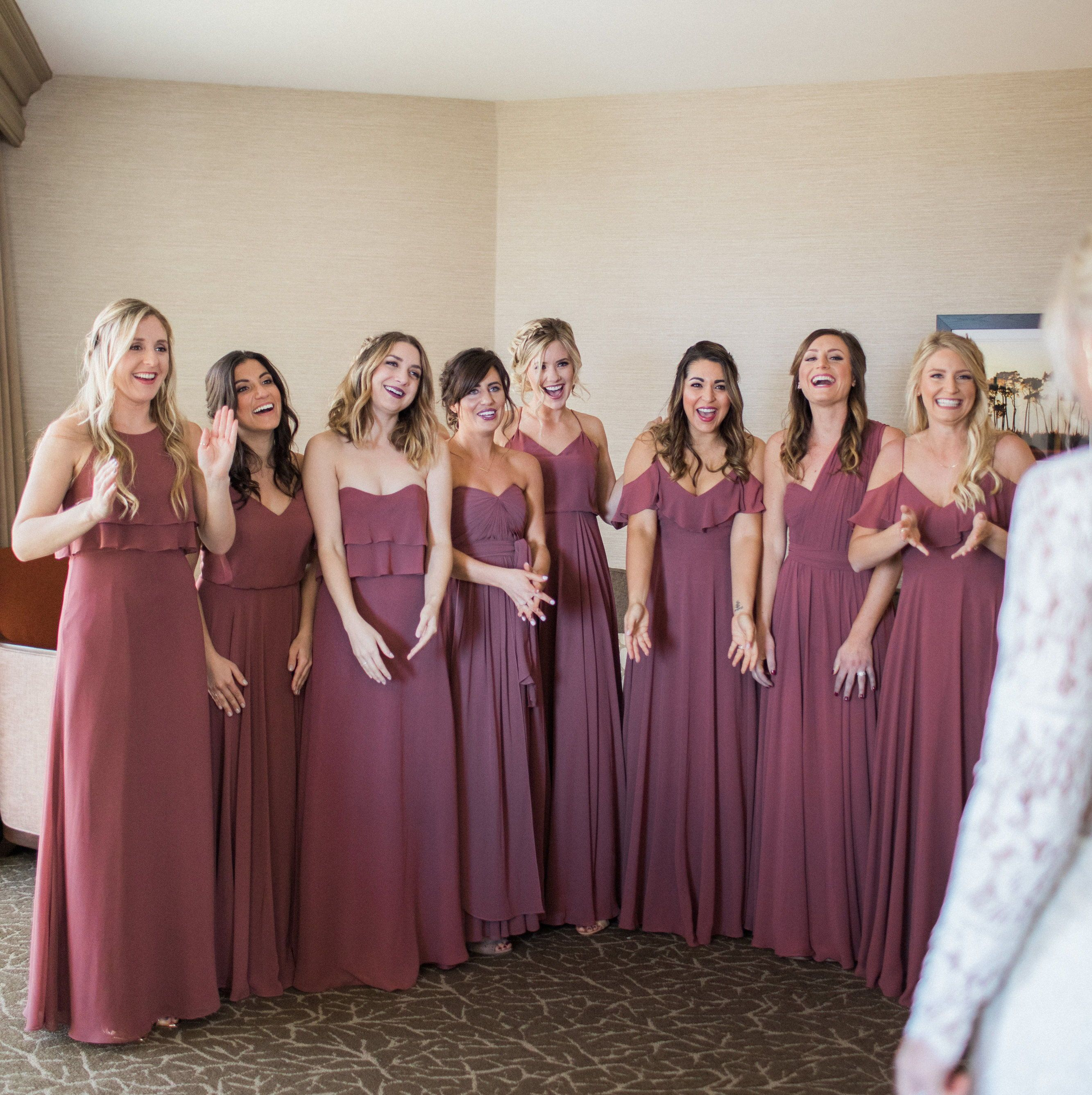 Jenny Yoo Collection Bridesmaids, featuring long mismatched luxe ...